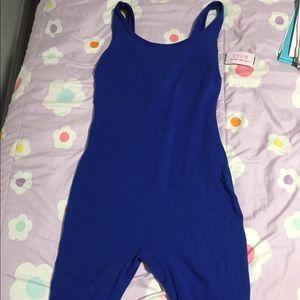Blue one piece short jumpsuit